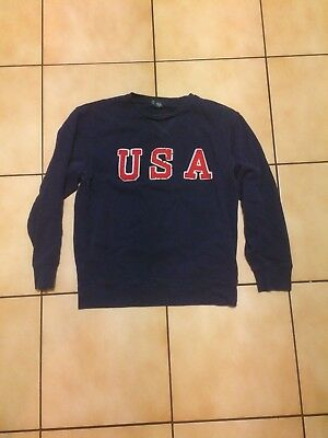 Vintage Polo Ralph Lauren USA Spell Out Crewneck Size Youth M