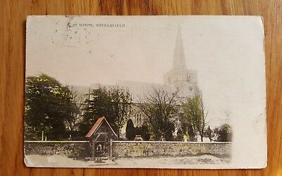 Old Postcard of St Denys Church Rotherfield East Sussex
