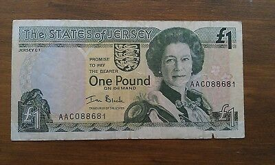 State of Jersey £1 Note