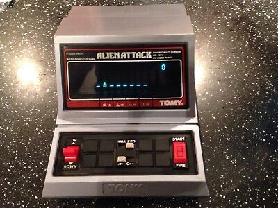 Vintage alien attack micro computer game by tomy GWO