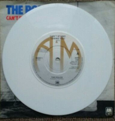 "The Police ""can't Stand Losing You"" Rare White Vinyl"