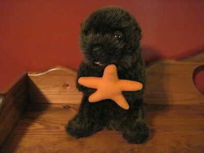 """Adorable 9"""" Plush OTTER with STAR"""
