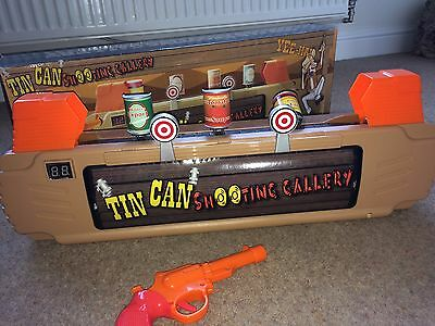 Tin Can Shooting Gallery Game with music and gun sounds