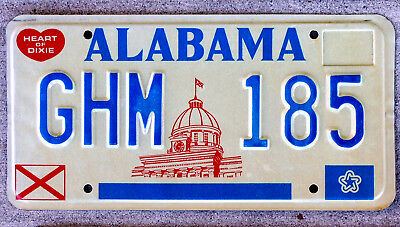 Alabama Red State Capitol Building License Plate