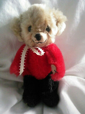 Vintage Merrythought Red & Black Micro Cheeky Bear