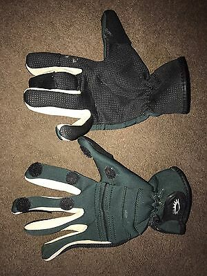 GREEN FISHING HUNTING SHOOTING GLOVES Neoprene Size Large Very Comfy