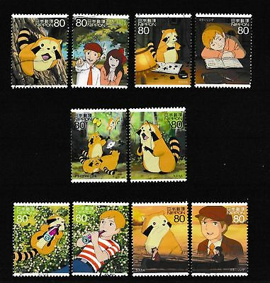 """Timbres du Japon - 2012 - Animation Hero and Heroine Series XVIII """"Rascal"""""""