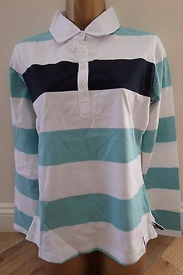 Sale! Musto Ladies Quality Equestrian Shirt Top Size 12 Stripe -Brand New!