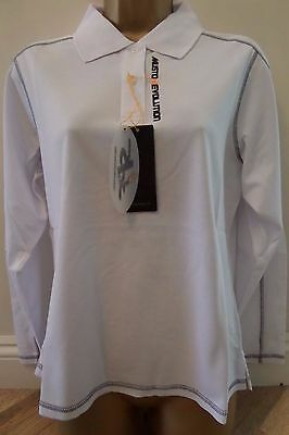 Musto Ladies Quality Equestrian Long Sleeve Shirt White Size 16 - New (Second)