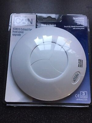 Airflow Icon Icon15 Extract Extractor Fan Front Cover White
