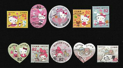 Timbres du Japon - 2015 - greetings - Sanrio Characters 82Y