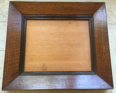 19C Figured Oak Veneered Swept Picture Frame