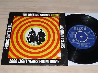 """7"""" Rolling Stones   2.000 light years from home         (Holland / Decca)"""
