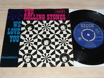 """7"""" Rolling Stones   We love you         (Holland / Decca)"""