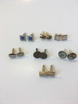Lot of 7 Cufflinks. Rare! Unique, Vintage. Great Condition.