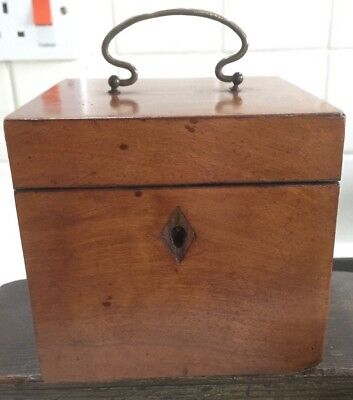 Early 19C Satinwood Cube Form Tea Caddy