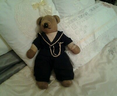Very old and well loved vintage teddy bear