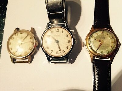 3x vintage job lot of watches spare or repairs