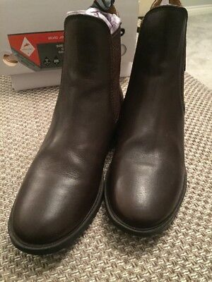 Brand New Harry Hall Silvio Jodhpur Leather Riding Boots Size 6 in Brown