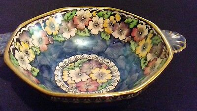 maling lustre twin handled bowl  (michaemas daisy )