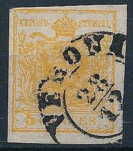 [3792] Italy Lombardo 1850 good classic stamp very fine. Nice cancel