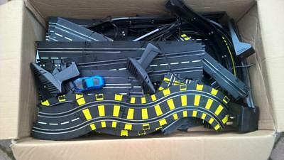 Scalextric assorted track and controllers