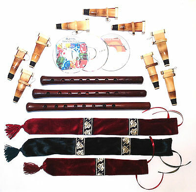 3 Duduk Professional Armenian 9 reeds 2 CD case Flute Oboe Mey Ney Instruction