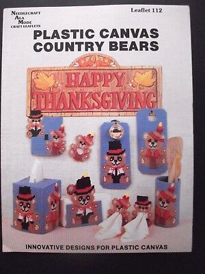 Needlecraft Ala Mode Pattern Booklet - Plastic Canvas Country Bears
