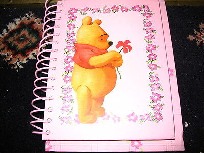 Disney Store Winnie the Pooh Pink Address Notebook NEW VERY RARE