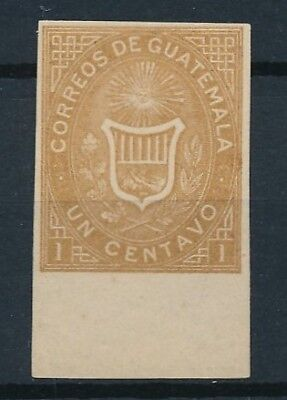 [38148] Guatemala Good imperforated stamp Very Fine Mint no gum