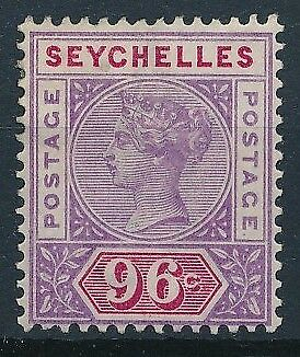 [38208] Seychelles 1890 Good stamp Very Fine MH signed Value $80