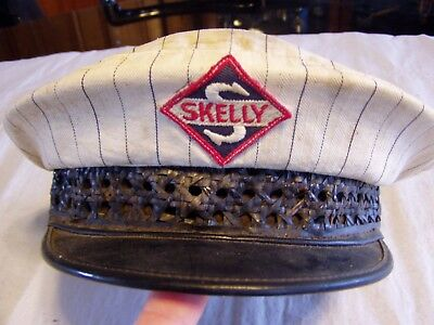 Rare Vintage 1950's Skelly Gas Service Station Uniform Cloth Hat W/ Patch