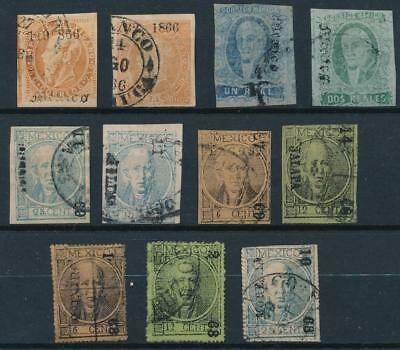 [38429] Mexico Good lot classical stamps Very Fine used