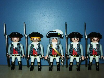 5 French Marineinfanterie Soldaten Husaren Matrosen Piraten Top Playmobil 4