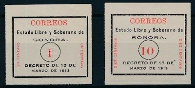 [38487] Mexico 1913/14 Two good stamps Very Fine Mint no gum