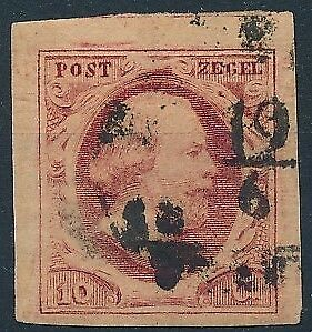 [3849] Netherlands 1852 good classic stamp very fine used value $40