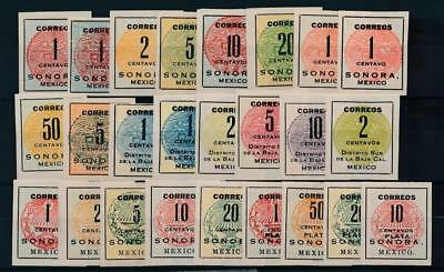 [38502] Mexico 1914/15 Good lot of Very Fine Mint no gum stamps