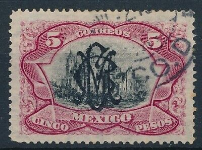 [38508] Mexico 1915 Good RARE stamp Very Fine used signed High Value