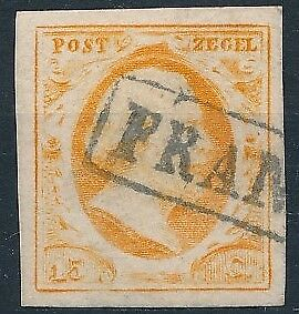 [3850] Netherlands 1852 good classic stamp very fine used value $190