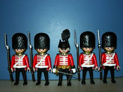 5 English Royal Guards Marineinfanterie Soldaten Husaren Top Playmobil 3