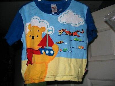 Disney Store Pooh & Tigger Boys Seaside T Shirt Age 12/18 Months Brand New!!