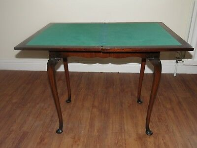 Folding Card Table with Felt Covering and Storage for Cards etc.