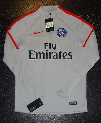 Nike PSG Paris Saint-Germain  Mid Layer Training Shirt - Small