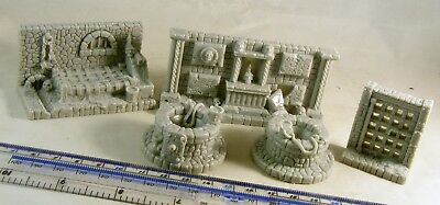 Dungeon scenery walls 28mm historical fantasy science fiction Warhammer D&D