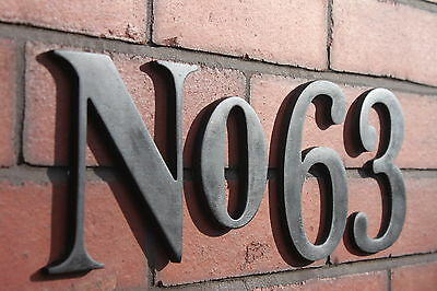 House number plaque / Door number / Large Numbers 150mm 6ins
