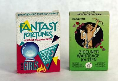 Lot of 2 Fortune Telling Playing Cards Decks Fantasy Fortunes & Gipsy Fortune