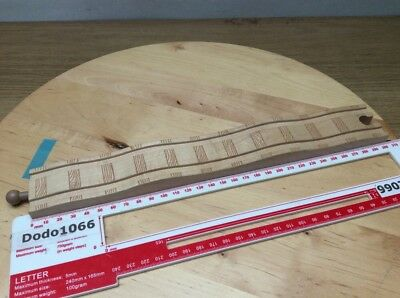 Long Humpy Bumpy Straight Track - Wooden Train Track (BRIO, Thomas etc)