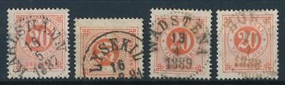 [4072] Sweden 1886-99 good classics stamp very fine used with nice cancel (4)