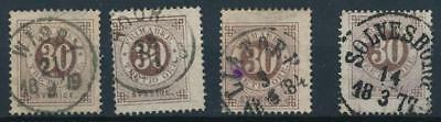 [4079] Sweden 1875-85 good classics stamp very fine used with nice cancel (4)