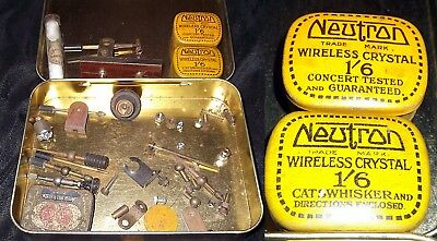 Parts To Make Genuine Vintage Crystal Sets. Radio Reception Without Batteries
